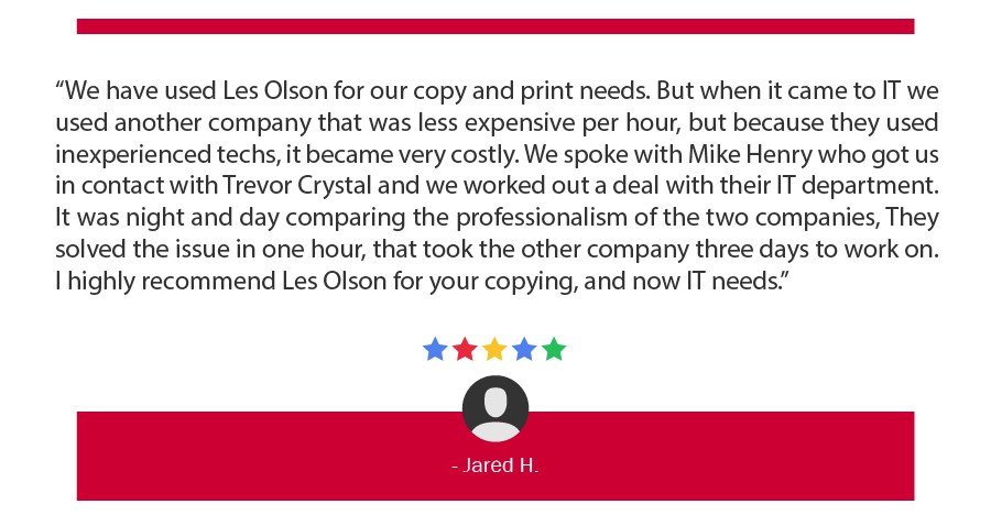 Les Olson Company IT Services Utah and Las Vegas Reviews